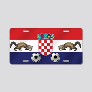 Croatian Football Flag Aluminum License Plate