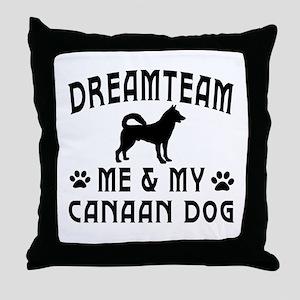 Canaan Dog Designs Throw Pillow