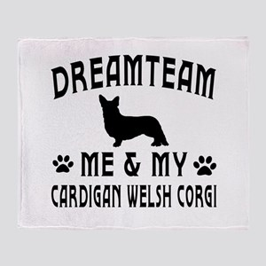 Cardigan Welsh Corgi Dog Designs Throw Blanket