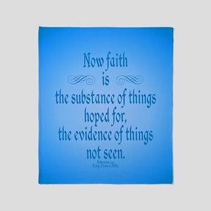 Hebrews 11 1 Scripture Throw Blanket