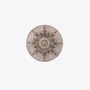 Antique Wind Rose Compass Design Mini Button