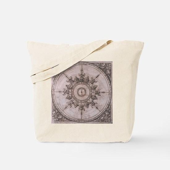 Antique Wind Rose Compass Design Tote Bag