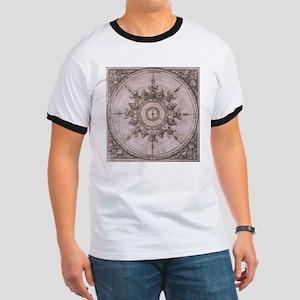 Antique Wind Rose Compass Design T-Shirt