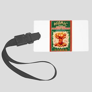 Atomic Bran Chinese Firecracker Label Luggage Tag