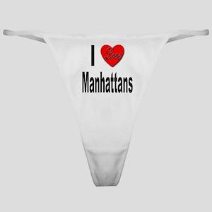 I Love Manhattans Classic Thong