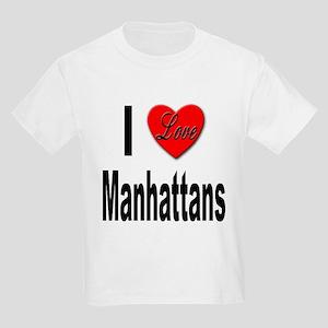 I Love Manhattans (Front) Kids T-Shirt