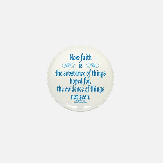 Hebrews 11 1 Scripture Mini Button
