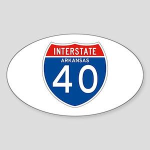 Interstate 40 - AR Oval Sticker
