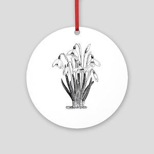 Vintage Flowers Art Ornament (Round)