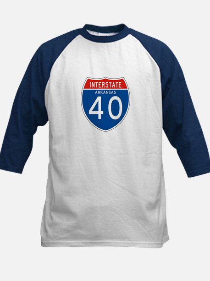 Interstate 40 - AR Kids Baseball Jersey