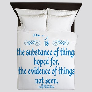 Hebrews 11 1 Scripture Queen Duvet