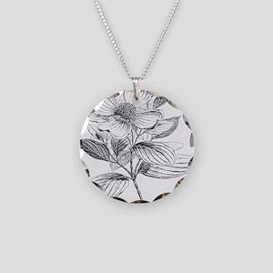 Dogwood flower vintage artwork Necklace