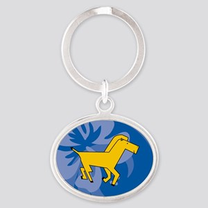 Horse Oval Keychain