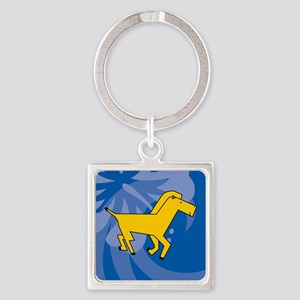 Horse Square Keychain