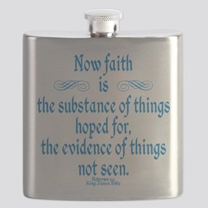 Hebrews 11 1 Scripture Flask