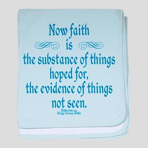 Hebrews 11 1 Scripture baby blanket