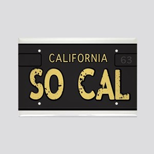 Old socal license plate design Rectangle Magnet