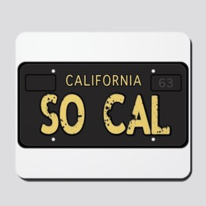 Old socal license plate design Mousepad