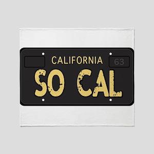 Old socal license plate design Throw Blanket