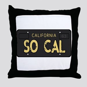 Old socal license plate design Throw Pillow