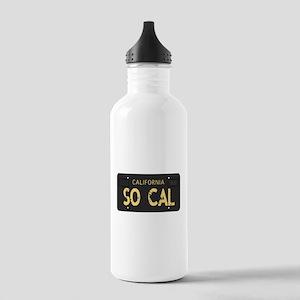 Old socal license plate design Water Bottle