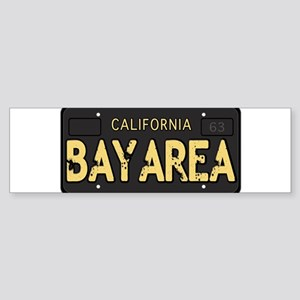 Bay Area calfornia old license Bumper Sticker