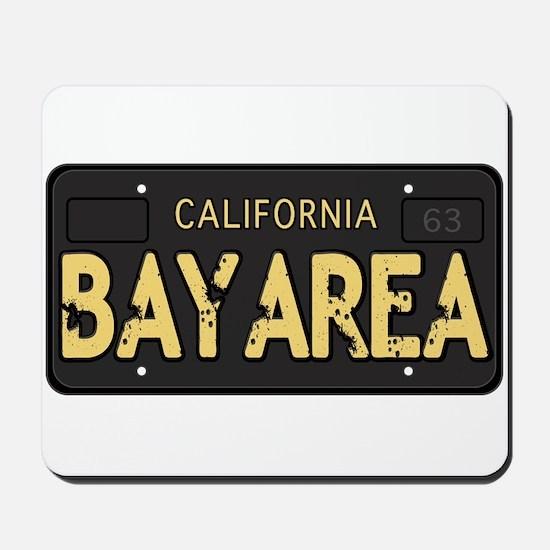 Bay Area calfornia old license Mousepad