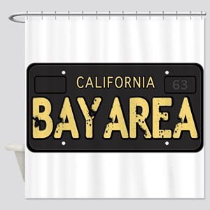 Bay Area calfornia old license Shower Curtain