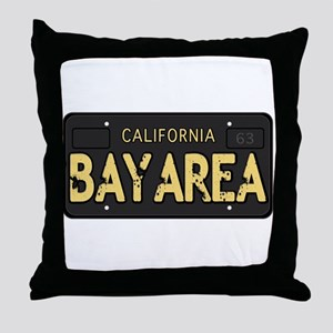 Bay Area calfornia old license Throw Pillow