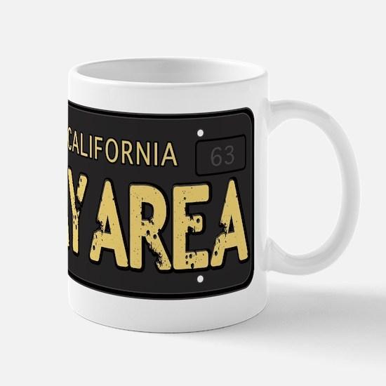 Bay Area calfornia old license Mug