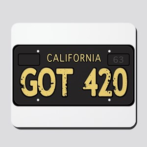 Old cal license 420 Mousepad