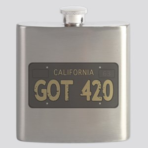 Old cal license 420 Flask