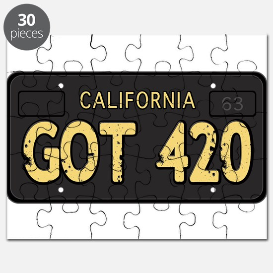 Old cal license 420 Puzzle