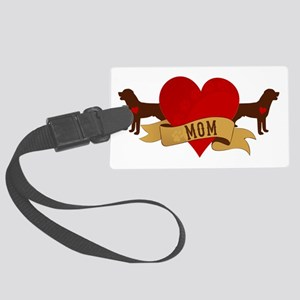 Rottweiler Mom Large Luggage Tag