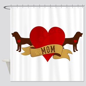 Rottweiler Mom Shower Curtain