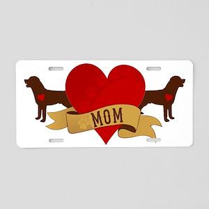 Rottweiler Mom Aluminum License Plate