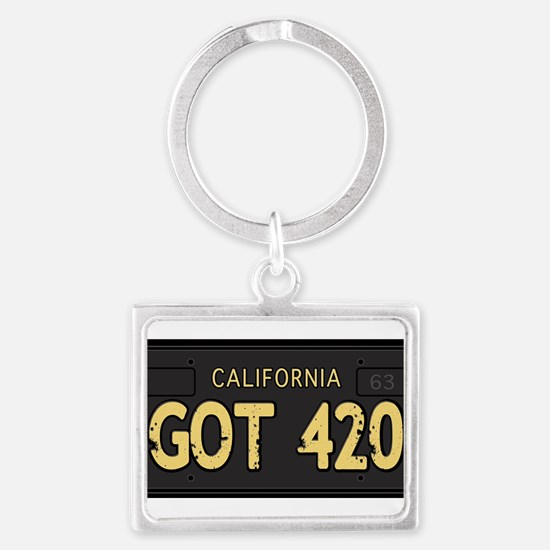 Old cal license 420 Keychains