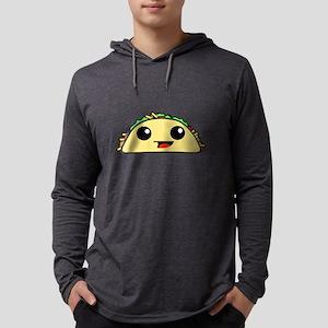 Cute Kawaii Taco Mens Hooded Shirt
