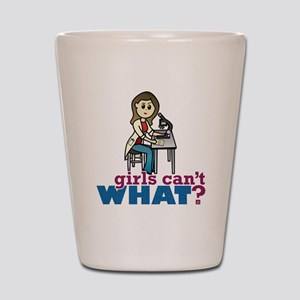 Girl Scientist Shot Glass