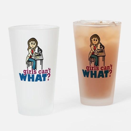 Girl Scientist Drinking Glass
