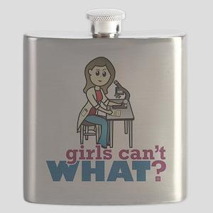 Girl Scientist Flask