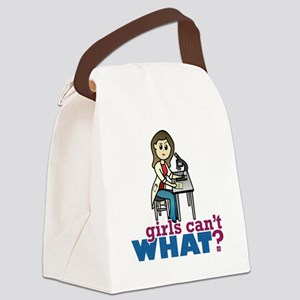 Girl Scientist Canvas Lunch Bag
