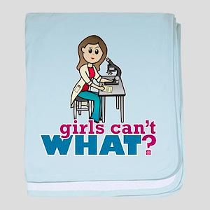 Girl Scientist baby blanket