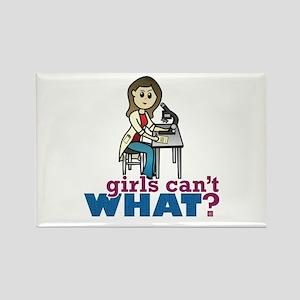 Girl Scientist Rectangle Magnet