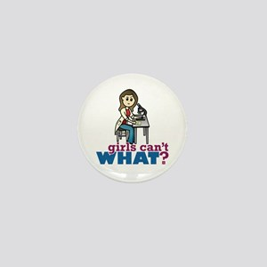 Girl Scientist Mini Button