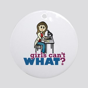 Girl Scientist Ornament (Round)