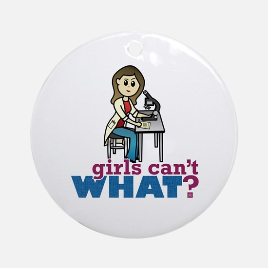 Girl Scientist Ornament (Round)