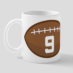 Football Player Number 9 Mug