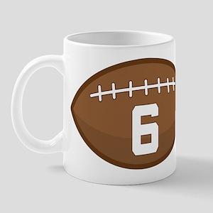 Football Player Number 6 Mug