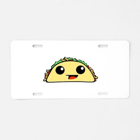 Cute Kawaii Taco Aluminum License Plate